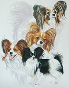 Papillon Fine Art Print by Barbara Keith