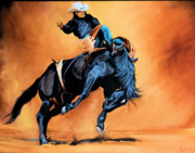 Horse Paintings - PBR Style by Cheryl Poland