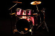 Drum Metal Prints - Pearl Master Customs One Metal Print by Sam Hymas