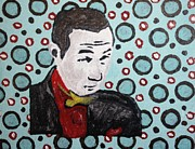 Famous People Painting Originals - Pee Wee Herman by April Brosemann
