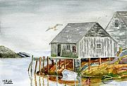 Watercolors - Peggys Cove by Rich Stedman
