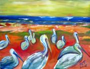 Patricia Taylor - Pelicans at the Beach