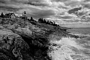 Landscape Photograpy Framed Prints - Pemaquid Point Lighthouse Framed Print by Keith Kapple