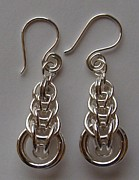Woven Jewelry Originals - Persian Weave Earrings by Beverly Fox