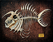 Monster Reliefs Prints - Pescado Ocho Print by Baron Dixon