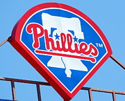 Philadelphia Phillies Framed Prints - Phillies Logo Framed Print by Carol Christopher