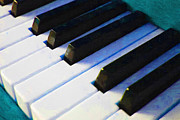Wingsdomain Art and Photography - Piano Keys . v2 . Blue