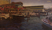 Seattle Waterfront Prints - Pier 55 - Red Robin Print by Thu Nguyen