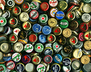 Wingsdomain Art and Photography - Pile of Beer Bottle Caps . 8 to 10...