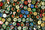 Wingsdomain Art and Photography - Pile of Beer Bottle Caps . 8 to 12...