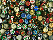 Wingsdomain Art and Photography - Pile of Beer Bottle Caps . 9 to 12...
