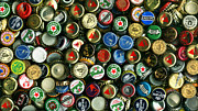 Wingsdomain Art and Photography - Pile of Beer Bottle Caps . 9 to 16...