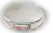 Sterling Silver Bracelet Art - Pink Cadillac by Dianne Brooks