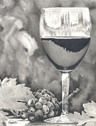 Wine Drawings - Pinot Adoration by Mark Treick