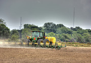Barry Jones Metal Prints - Planting the Cotton Metal Print by Barry Jones