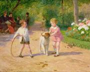 Victor Gabriel Gilbert - Playing with the Hoop