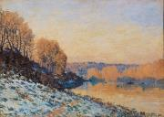 Alfred Sisley - Port Marly White Frost