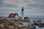 Guy Whiteley Photography Prints - Portland Headlight 14456 Print by Guy Whiteley