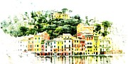 Genoa Digital Art Prints - Portofino Print by Andrea Barbieri