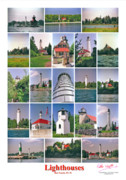 Peter L Wyatt - Poster - Door County Lighthouses -1