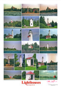 Peter L Wyatt - Poster - Door County Lighthouses -2