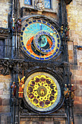 Zodiac Ring Acrylic Prints - Prague Astronomical Clock 2 Acrylic Print by Mariola Bitner