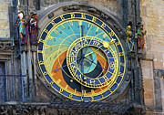 Zodiac Ring Acrylic Prints - Prague Astronomical Clock Acrylic Print by Mariola Bitner