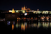 Rose Tower Posters - Prague at Night Poster by Mariola Bitner