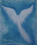 Guardian Angel Print Prints - Precious Comfort Print by Leslie Allen