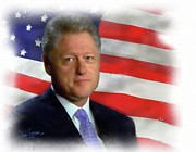Bill Clinton Painting Prints - Pres. Clinton Print by David Grace