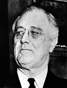 Franklin Delano Framed Prints - President Franklin Delano Roosevelt Framed Print by War Is Hell Store
