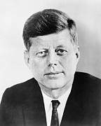 World Leaders Framed Prints - President John F. Kennedy Framed Print by War Is Hell Store