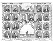 Washington Dc Drawings - Presidents Of The United States 1776-1876 by War Is Hell Store