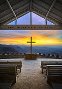 Orange Posters - Pretty Place Chapel Sunrise - Embraced Poster by Dave Allen