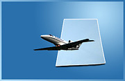 Jet Poster Digital Art - Private Jet Chicago Airplanes 14 by Thomas Woolworth