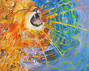 Anne Cameron Cutri - Prophetic Sketch Painting 25 Lion of...