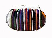 Colours Glass Art - Purse by Sarah King