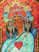 Heart Paintings - Queen of Her Own Heart by Shiloh Sophia McCloud