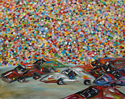 Spectators Paintings - Race Day by Judith Rhue