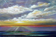 Radiance - Seascape Painting Fine Art Print by Gina De Gorna