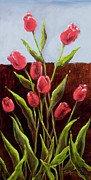 Vic Mastis Originals - Red Delight-Tulips by Vic  Mastis