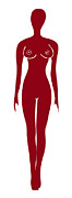 Frank Tschakert - Red Female Silhouette