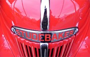 Antique Pick Ups Prints - Red Studebaker Truck Print by Chuck Re