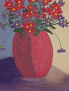 Kate Farrant - Red Vase of Flowers