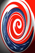 Terry Digital Art - Red White And Blue by Terry Anderson