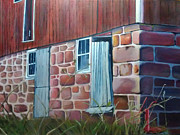 Family Farm Painting Prints - Reifsteck Farm 1 Print by Robert Foss