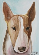 English Bull Terrier Framed Prints - Rescue Me Nr. 3 Framed Print by Jindra Noewi