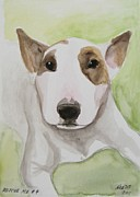 English Bull Terrier Paintings - Rescue Me Nr. 4 by Jindra Noewi