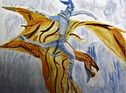 Rides Painting Originals - Ride Toruk the Dragon from Avatar by Stanley Morganstein
