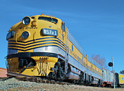 Colorado Railroad Museum Prints - Rio Grande Diesel Print by Stephen  Johnson